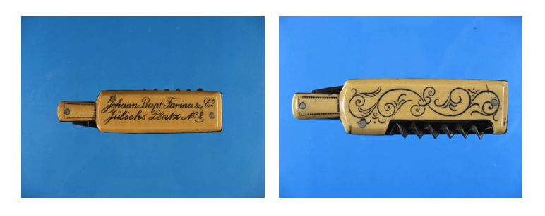 Rare Pocketknife with Corkscrew Marked Johann Bapt. Farina & Co: Case of Deception.