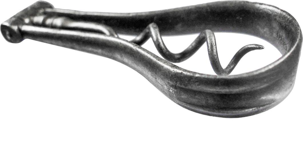Single finger Steel Bow Corkscrew by Irish Cutler Singleton.